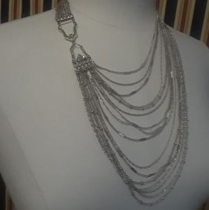 C + I  Muli-Strand Chain Bib Necklace